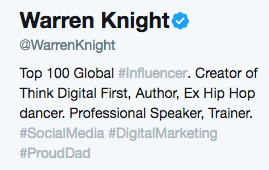 How to get verified as a speaker on twitter